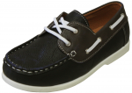 KIDS BOAT SHOES (2212151) BLK/BROWN