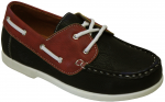 KIDS BOAT SHOES (2212151) BLK/RED