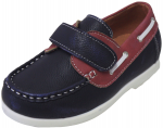 KIDS BOAT SHOES (2212151) NAVY/RED