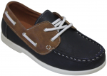 KIDS BOAT SHOES (2212151) NAVY/TAN