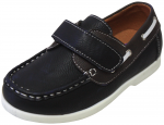 KIDS BOAT SHOES (2212152) BLK/BROWN