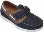 KIDS BOAT SHOES (2212152) NAVY/TAN
