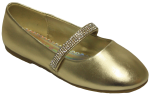 GIRLS BALLERINAS (2242465-1) GOLD METALLIC