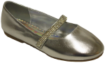 GIRLS BALLERINAS SHOES (2242465-1) SILVER METALLIC