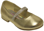 GIRLS DRESSY SHOES (2242468-1) GOLD METALLIC