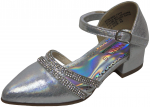 GIRLS DRESSY SHOES (2242469) SILVER SATIN