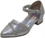 GIRLS DRESSY SHOES (2242471) SILVER SATIN