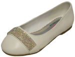GIRLS BALLERINAS (2242474) WHITE SMOOTH