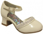 DRESS SHOES W/ TRIPLE LINE RHINESTONE & BELT BUCKLE (BONEPAT)
