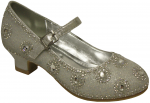 GIRLS DRESSY SHOES (SILVER)