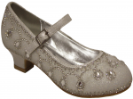 GIRLS DRESSY SHOES W/ RHINESTONES (WHITE)