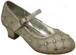 GIRLS DRESSY SHOES & RHINESTONES (WHITE)