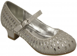 GIRLS DRESSY SHOES WITH RHINESTONES (WHITE)