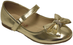 GIRLS BALLERINAS (2252507) GOLD METALLIC