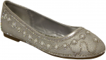GIRLS FLAT SHOES AND RHINESTONES (SILVER)