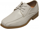 BOYS DRESSY LACE UP SHOE (WHITE)