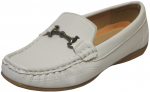 BOYS CASUAL SHOES W/CHAIN LINK ON TOP (WHITE)