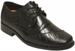 BOYS DRESSY SHOES LACE UP (BLACK)