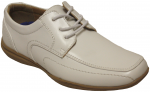 BOYS DRESSY LACE UP SHOES (WHITE)