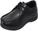 NEW BOYS SCHOOL SHOES (2383850) BLACK