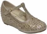 GIRLS DRESSY SHOES (2434316) CHAMPAGNE