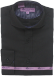 BOYS DRESSY SHIRTS (LONG SLEEVE) 2502505- BLACK