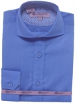BOYS DRESSY SHIRTS (LONG SLEEVE) 2502505-FRENCH BLUE