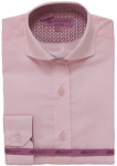 BOYS DRESSY SHIRTS (LONG SLEEVE) 2502505- PINK