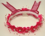 Girls Crowns w/ Fushia Flowers